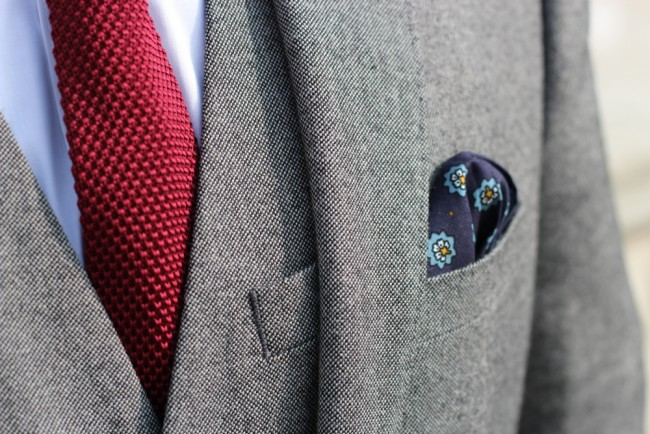 dapper suit close up